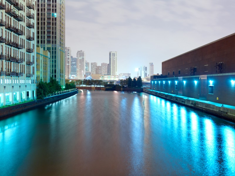 Chicago River (North Branch) at West Chicago Avenue, Chicago, 2011