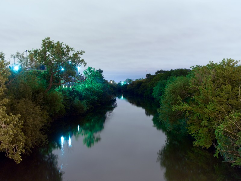 Chicago River (North Branch) at West Irving Park Road, Chicago, 2011