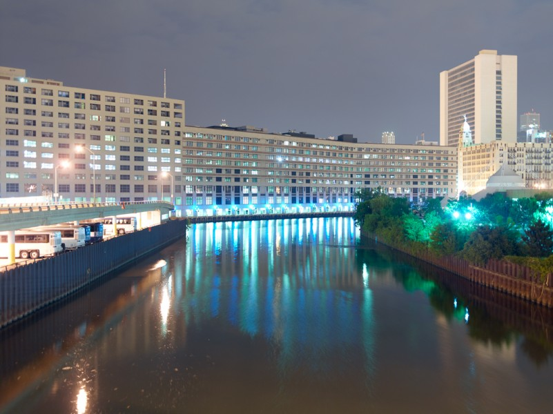 Chicago River (North Branch) at North Halsted Street, Chicago, 2011
