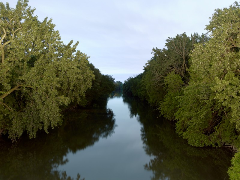 Chicago River (North Branch) at West Montrose Avenue, Chicago, 2011
