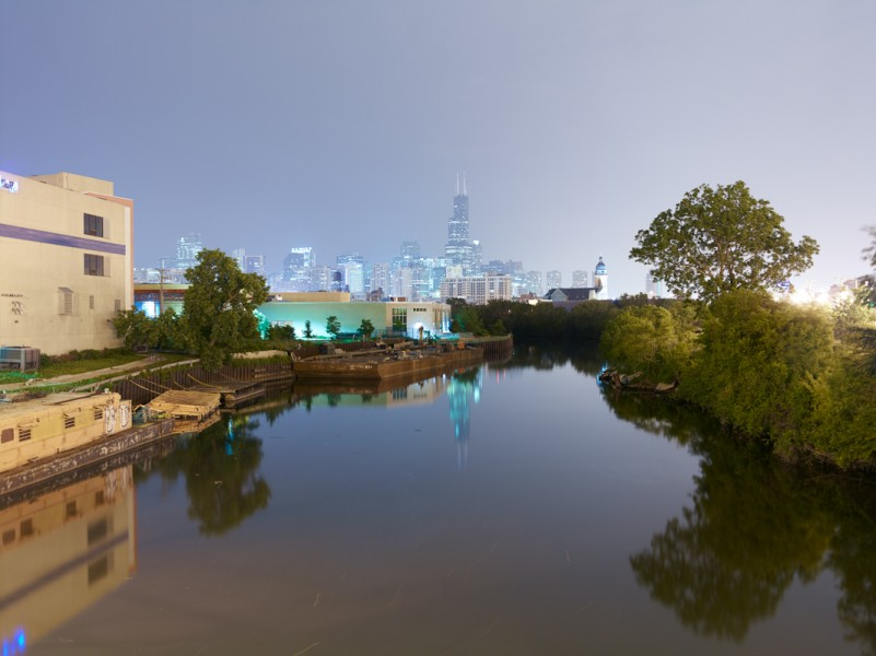 Chicago River (North Branch) at West Division Street, Chicago, 2011