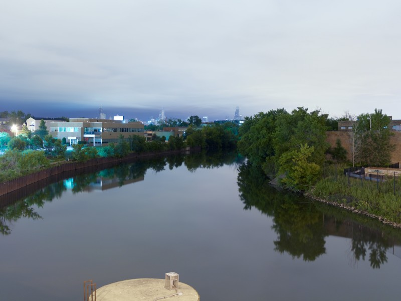 Chicago River (North Branch) at West Belmont Avenue, Chicago, 2011