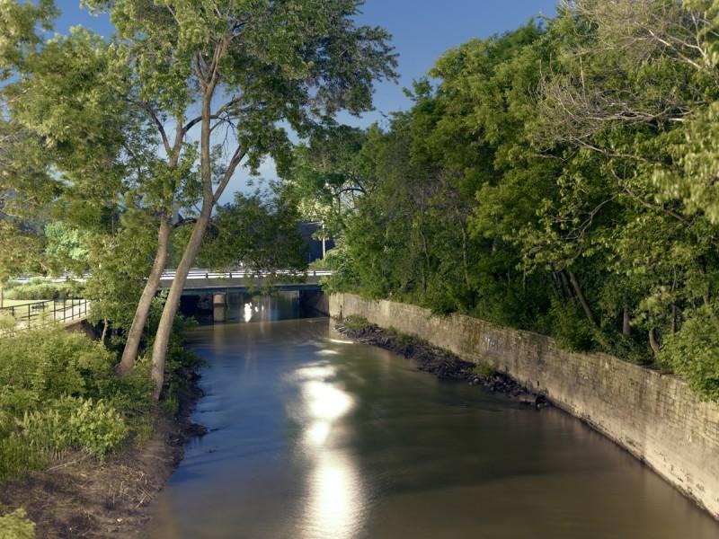 Chicago River (North Branch) at North Pulaski Road, Chicago, 2011