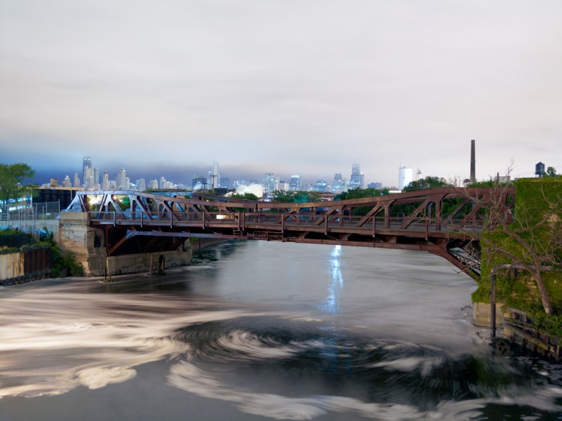 Chicago River (North Branch) at North Ashland Avenue, Chicago, 2011
