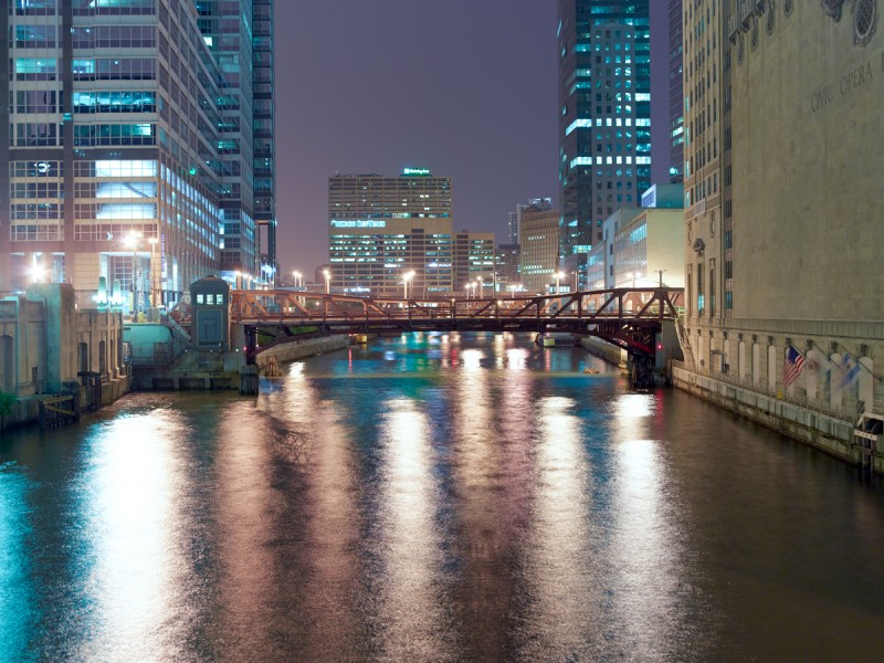 Chicago River (South Branch) at West Madison Street, Chicago, 2011