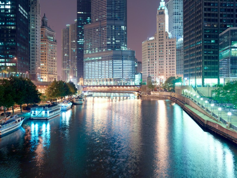 Chicago River (Main Stem) at North Columbus Drive, Chicago, 2011