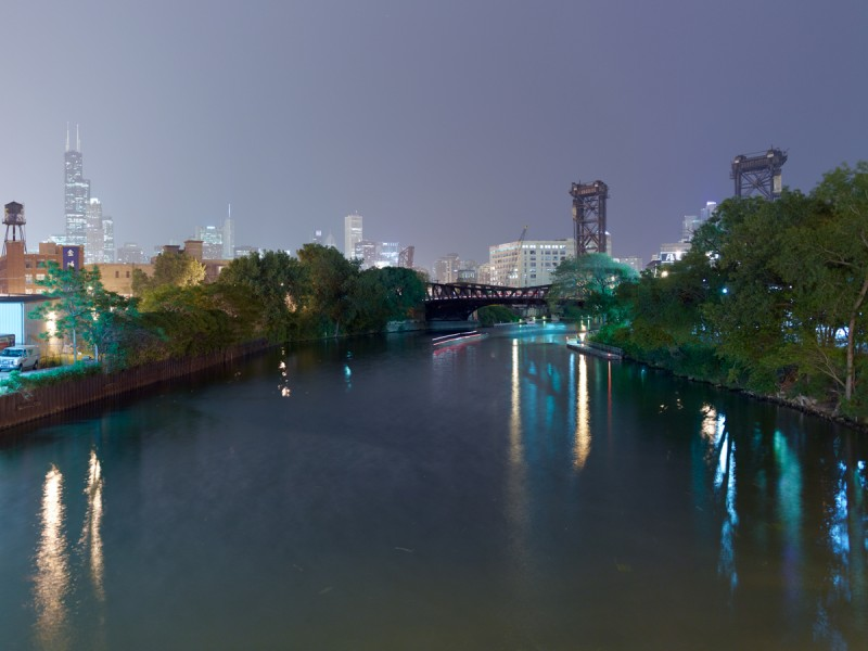 Chicago River (South Branch) at West Cermak Road, Chicago, 2011