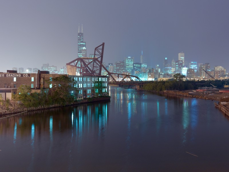 Chicago River (South Branch) at West 18th Street, Chicago, 2011
