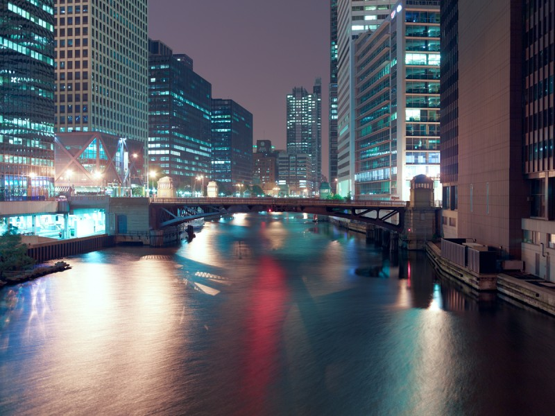 Chicago River (South Branch) at West Van Buren Street, Chicago, 2011