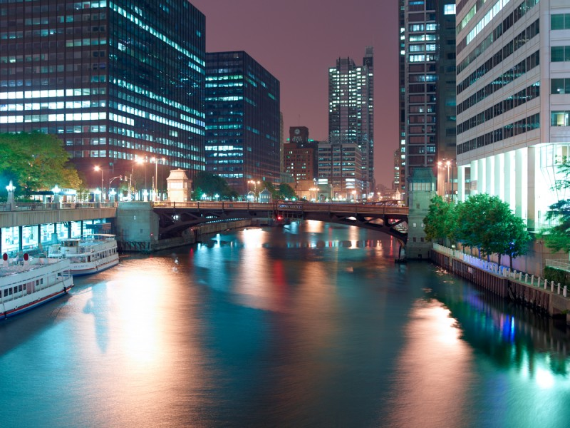 Chicago River (South Branch) at West Jackson Boulevard, Chicago, 2011