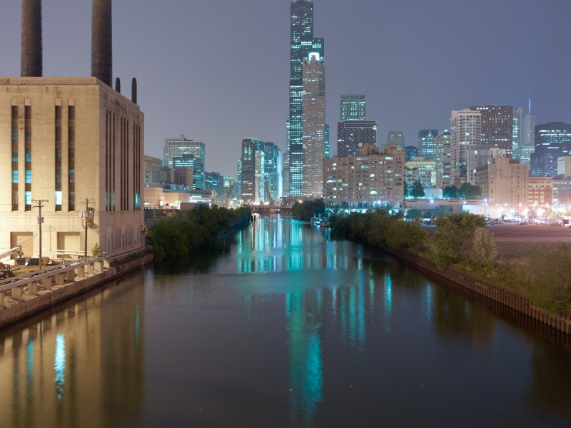Chicago River (South Branch) at West Roosevelt Road, Chicago, 2011