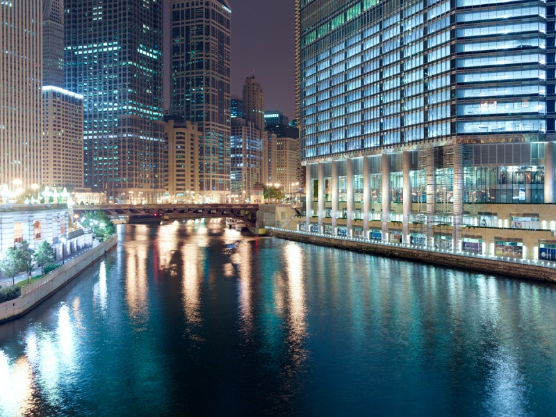 Chicago River (Main Stem) at North Michigan Avenue, Chicago, 2011