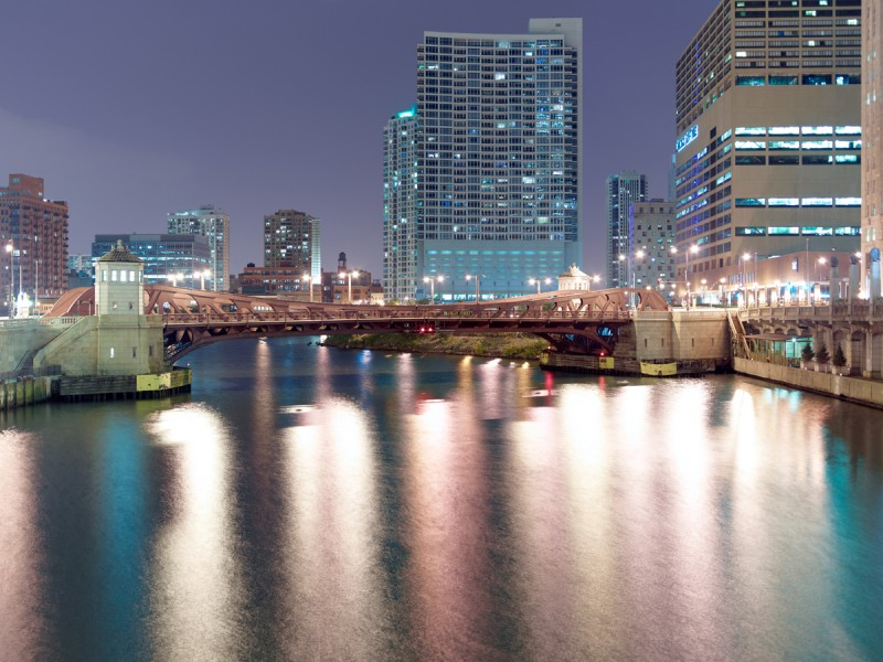 Chicago River (Main Stem) at North Wells Street, Chicago, 2011