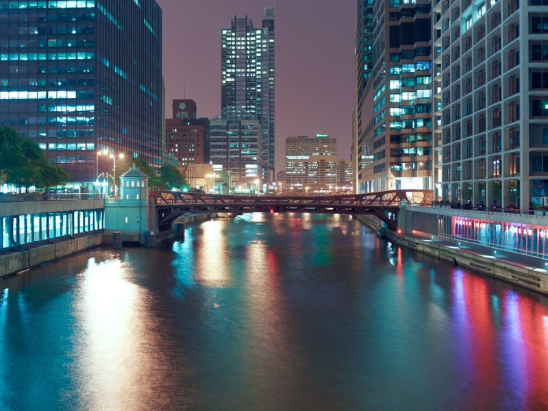 Chicago River (South Branch) at West Adams Street, Chicago, 2011