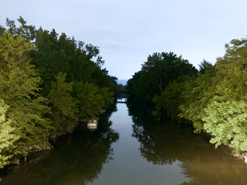 Chicago River (North Branch) at West Lawrence Avenue, Chicago, 2011