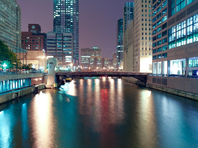 Chicago River (South Branch) at West Monroe Street, Chicago, 2011