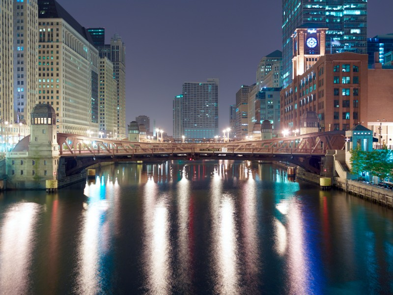 Chicago River (Main Stem) at North Dearborn Street, Chicago, 2011