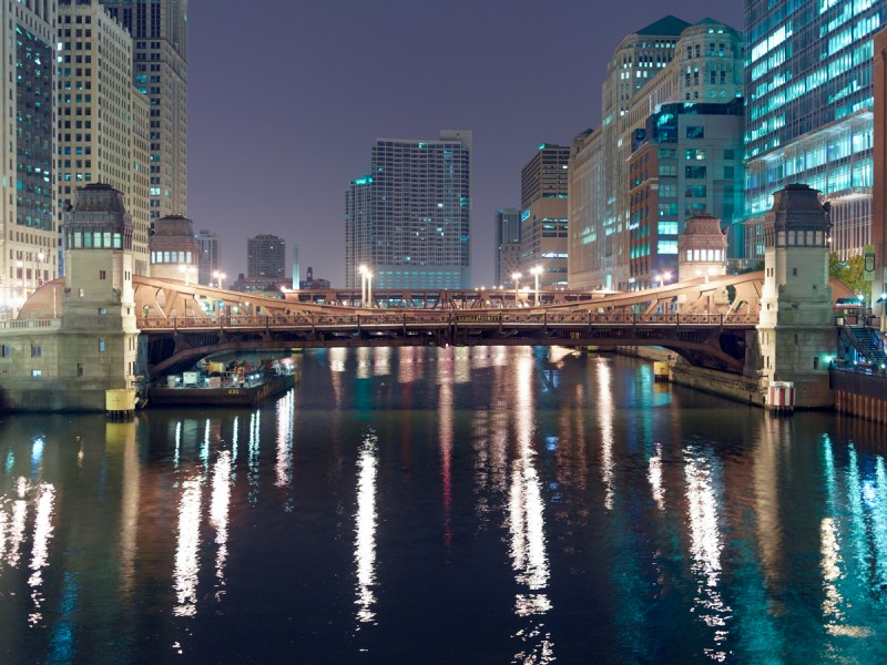Chicago River (Main Stem) at North Clark Street, Chicago, 2011