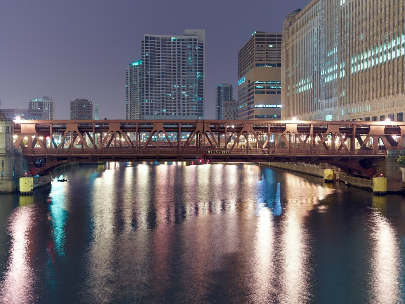 Chicago River (Main Stem) at North Lasalle Street, Chicago, 2011